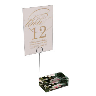 Orchid Blooms Place Card Holder