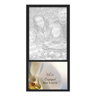 Orchid Elegance Wedding Engagement Announcement Card