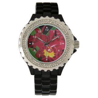 Orchid Flower Oil Painting  Watch