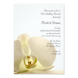 Orchid Flower on White Post Wedding Brunch Invite