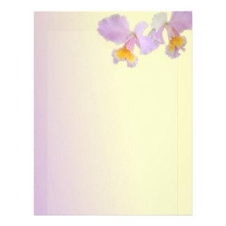 Orchid flowers beautiful  letterhead, stationery customised letterhead