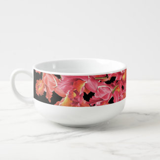 Orchid Flowers Floral Garden Soup Bowl Soup Bowl With Handle