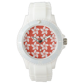 Orchid Hong Kong Flag Pattern Watch
