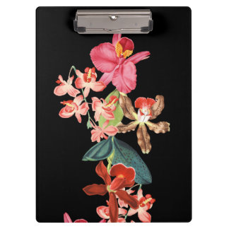 Orchid Island Floral Flowers Tropical Clipboard