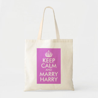 Orchid Keep Calm and Marry Harry Tote Bag