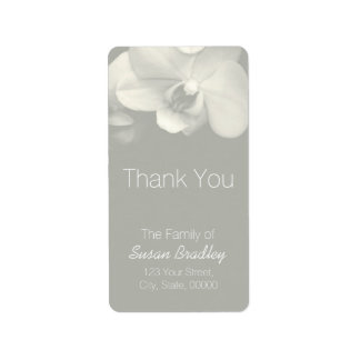 Orchid Light Kaki Elegant Thank You Label 6