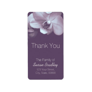 Orchid Light Purple Elegant Thank You Label 4