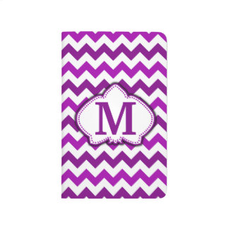 Orchid Purple Chevron Personalized Monogram Journal