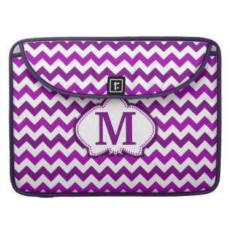 Orchid Purple Chevron Personalized Monogram Sleeve For MacBooks