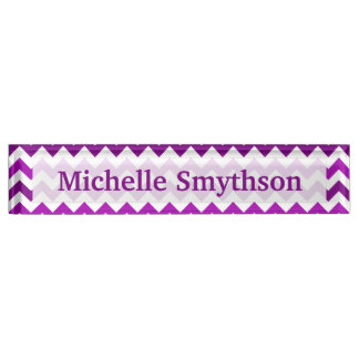 Orchid Purple Chevron Personalized Your Name Desk Nameplates