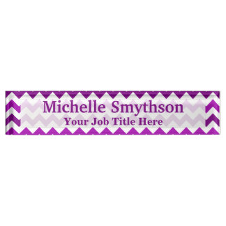 Orchid Purple Chevron Personalized Your Name Title Name Plate