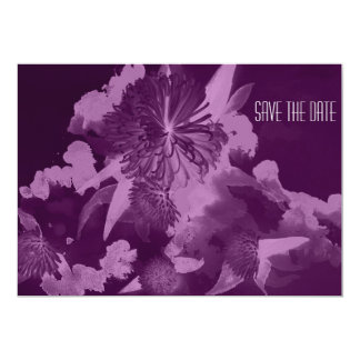 Orchid Purple Wedding Save the Date Invitations