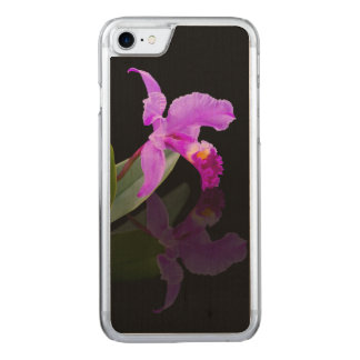 Orchid Reflected on Black Carved iPhone 8/7 Case