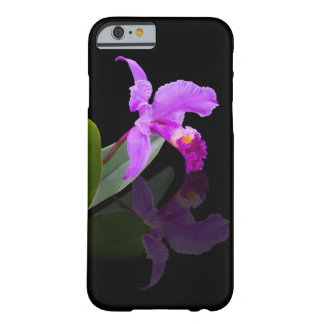 Orchid Reflected on Black Floral Barely There iPhone 6 Case