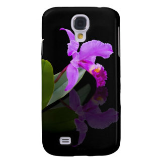 Orchid Reflections On Black Galaxy S4 Case