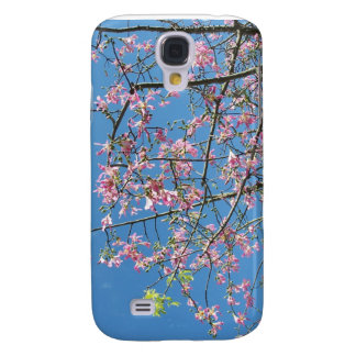 Orchid tree with blue sky galaxy s4 case