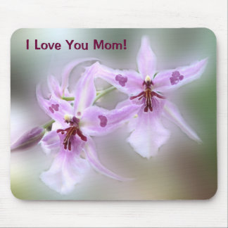 Orchids I Love You Mom! Mouse Pad
