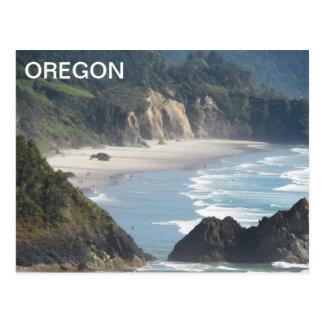 Oregon Coastline Travel Postcard