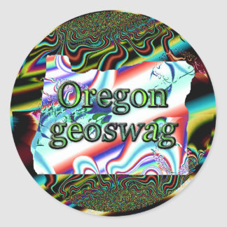 Oregon State Geocaching Supplies Stickers Geoswag