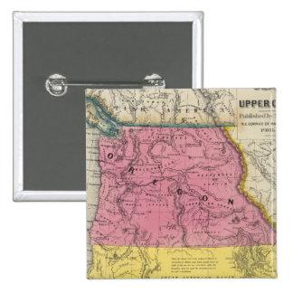Oregon & Upper California 15 Cm Square Badge