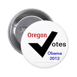 Oregon Votes Obama 2012 Pinback Buttons