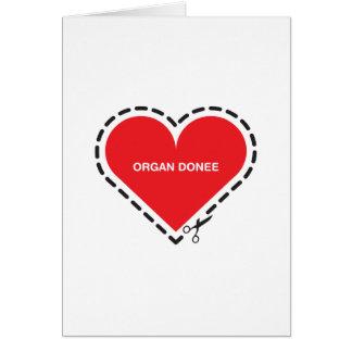 Organ Donee 'Get well soon' Card