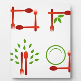 organic cuisine plaque