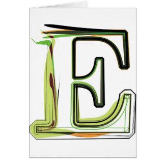 Organic Font illustration Greeting Card