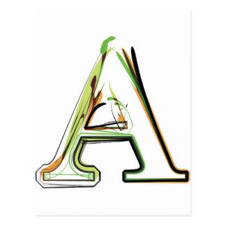 Organic Font illustration Postcard