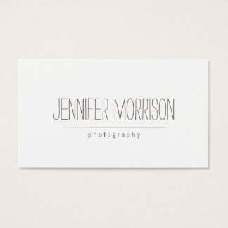 Organic Hand-Written Photographer's Business Card