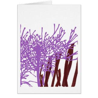 Organic Lilac Greeting Card
