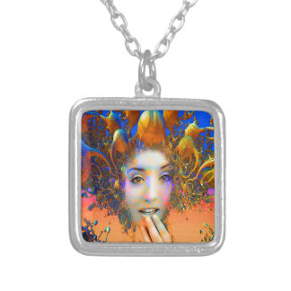Organic Medusa Silver Plated Necklace