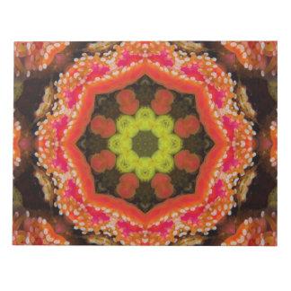 Organic Star Mandala Notepad