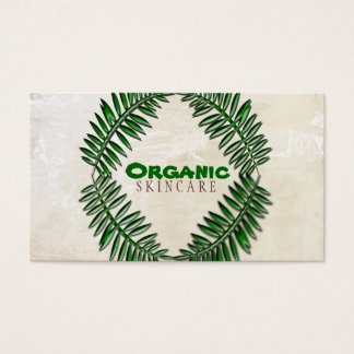 Organic White Wash Business Card