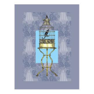 Oriental Birdcage Postcard