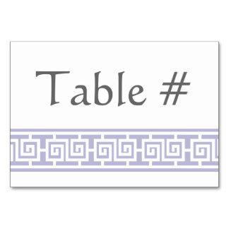 Oriental Elegance in Lavender Table Card
