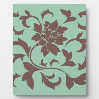 Oriental Flower - Chocolate Hemlock Display Plaque