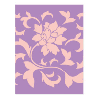 Oriental Flower - Strawberry Lilac Postcard