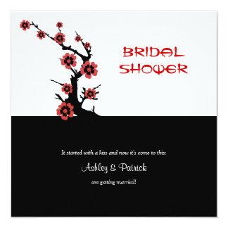 Oriental Sakura Bridal Shower 13 Cm X 13 Cm Square Invitation Card