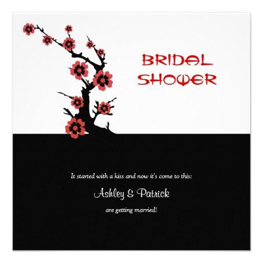 Oriental Sakura Bridal Shower Personalized Invite