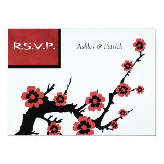 Oriental Sakura RSVP 11 Cm X 16 Cm Invitation Card
