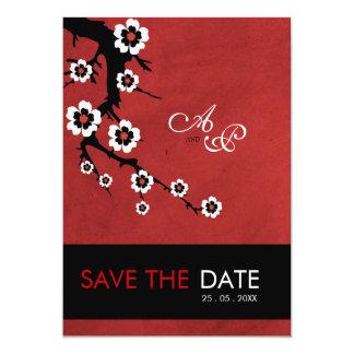 Oriental Sakura Wedding 13 Cm X 18 Cm Invitation Card