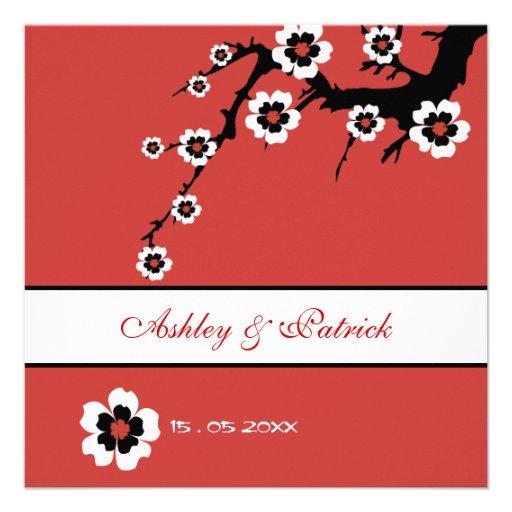 Oriental Sakura Wedding Invite