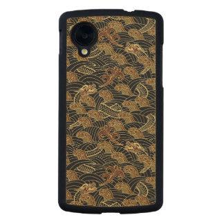 Oriental Sea Dragon Pattern Carved® Maple Nexus 5 Case