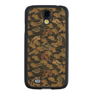 Oriental Sea Dragon Pattern Carved® Maple Galaxy S4 Slim Case