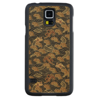 Oriental Sea Dragon Pattern Carved® Maple Galaxy S5 Slim Case