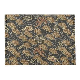 Oriental Sea Dragon Pattern Tyvek® Card Wallet
