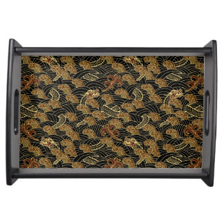 Oriental Sea Dragon Pattern Serving Platter