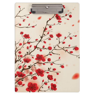 Oriental style painting, plum blossom in spring clipboards