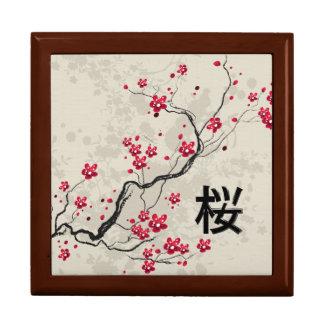 Oriental Style Sakura Cherry Blossom Art Gift Box